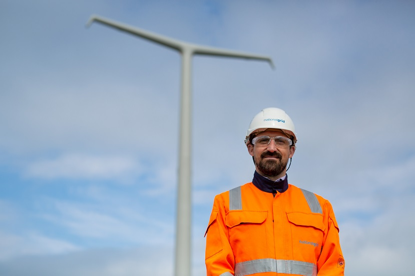 Project Director James Goode with T-pylon in the background